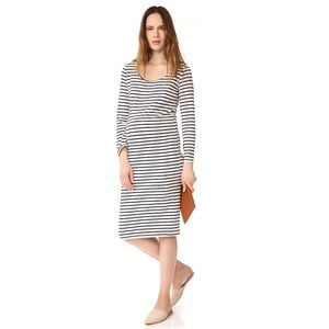 e7a91360e72 Monrow Dresses - MONROW Maternity Stripe Long Sleeve Dress